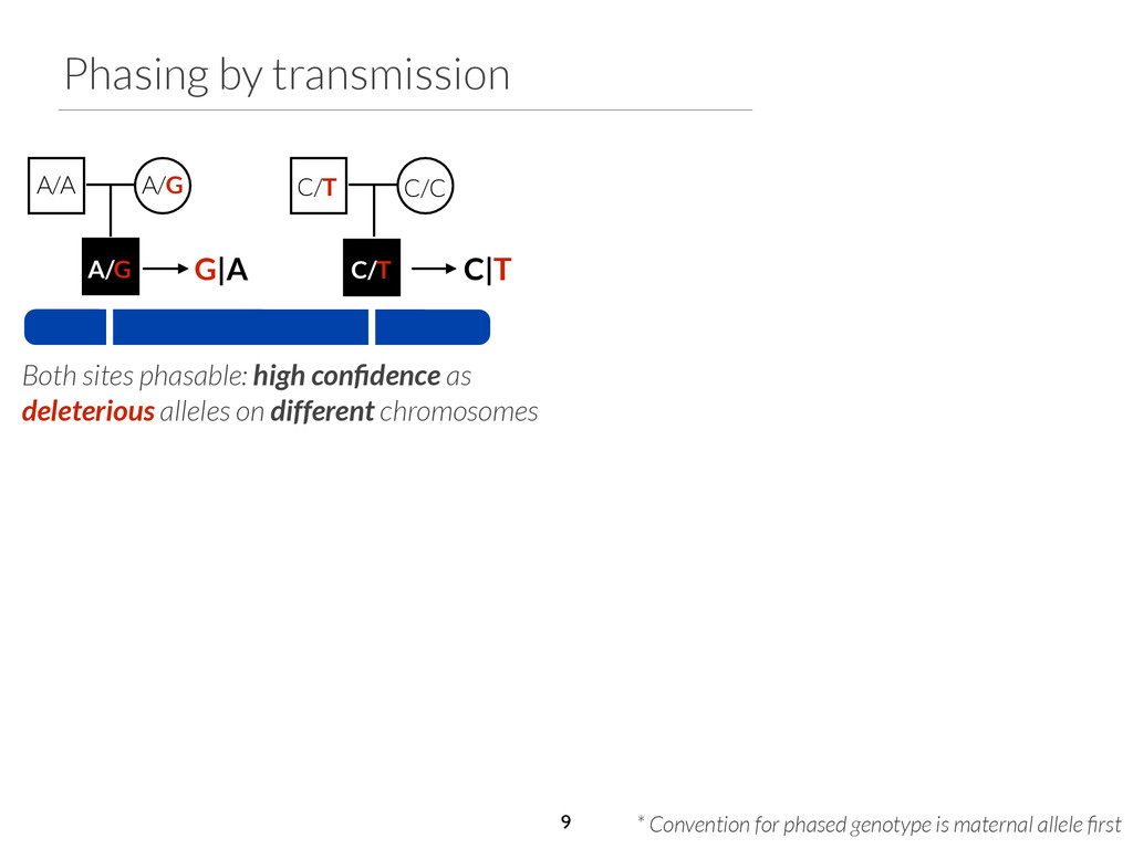 Phasing by transmission C/C G|A C|T Both sites ...