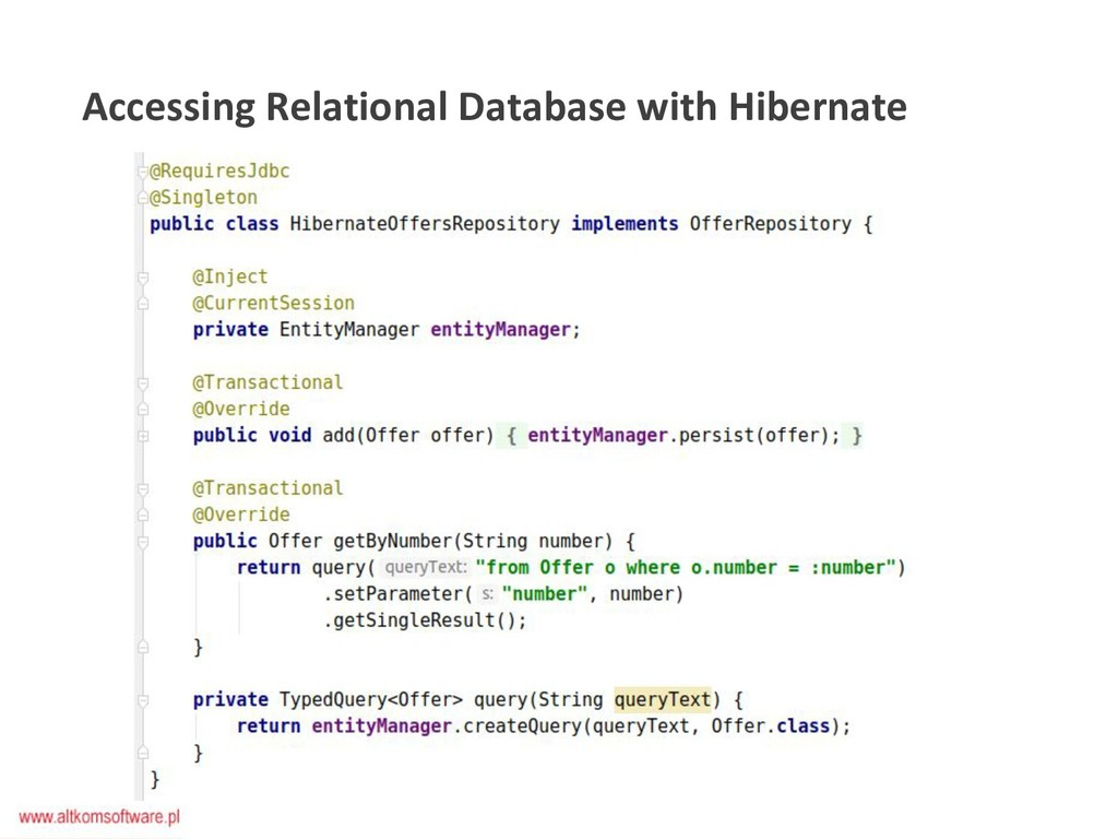 Accessing Relational Database with Hibernate