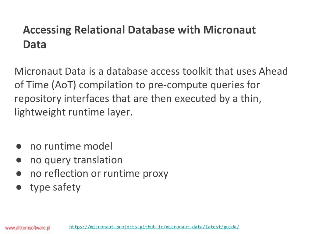 Accessing Relational Database with Micronaut Da...