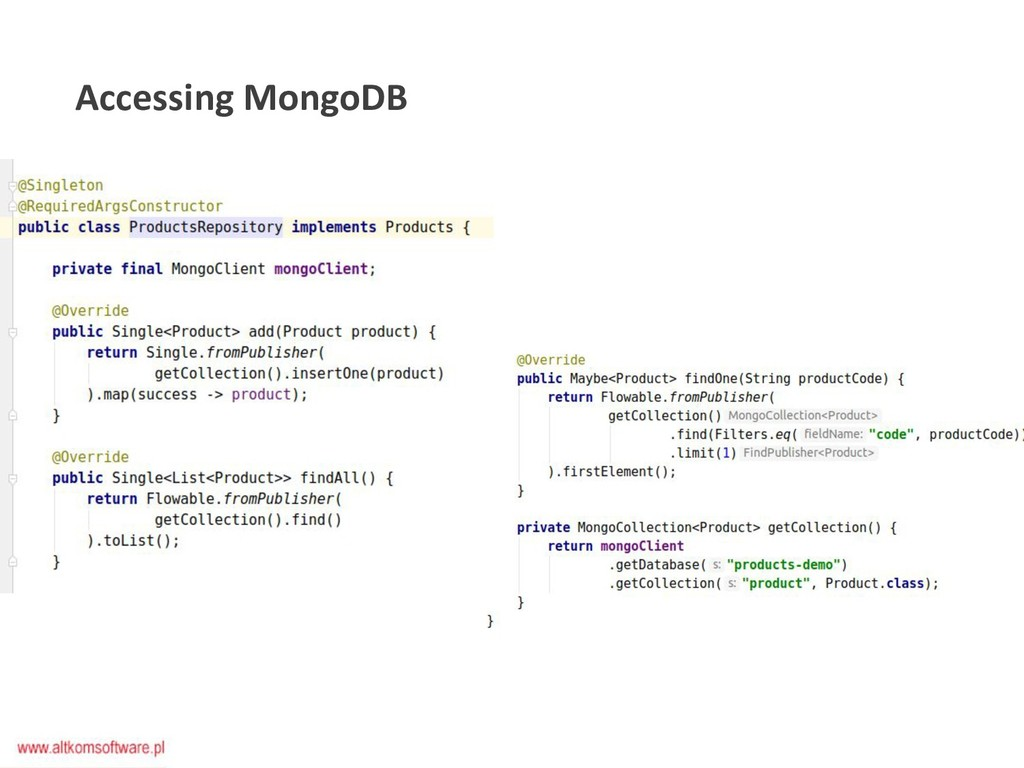 Accessing MongoDB