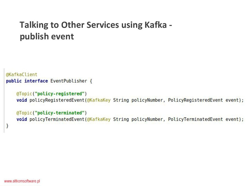 Talking to Other Services using Kafka - publish...
