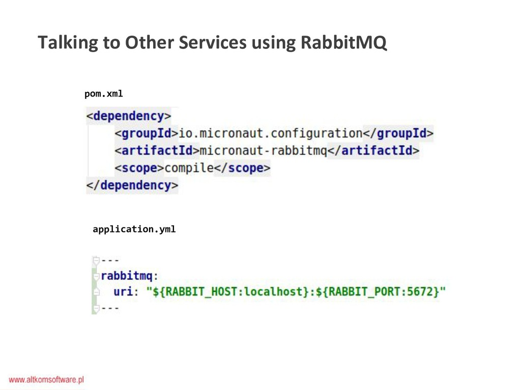 Talking to Other Services using RabbitMQ pom.xm...