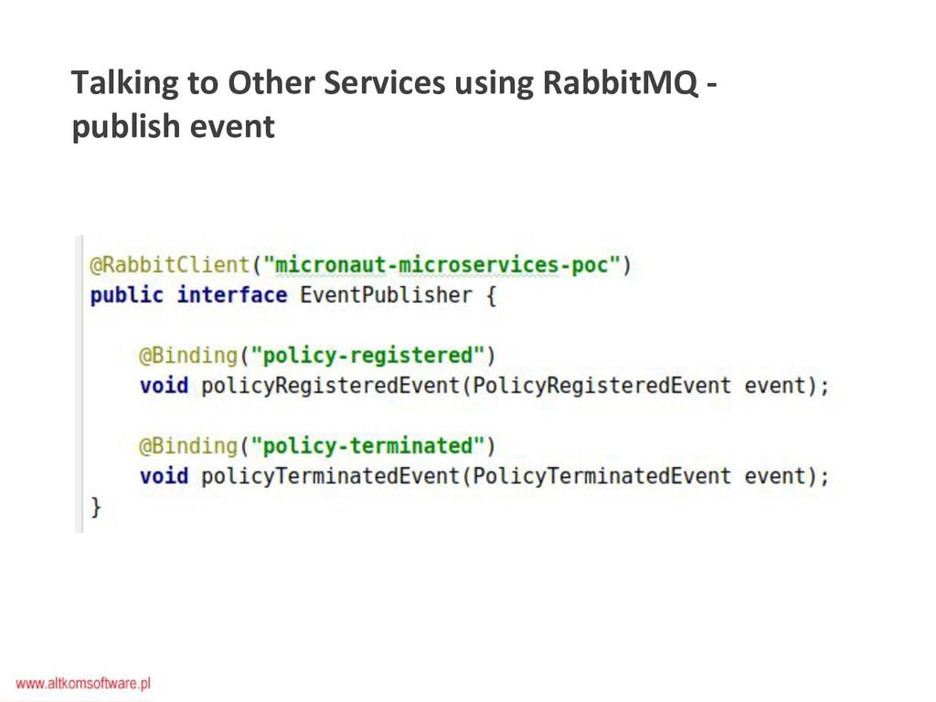 Talking to Other Services using RabbitMQ - publ...