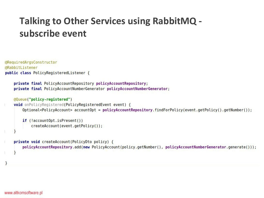Talking to Other Services using RabbitMQ - subs...