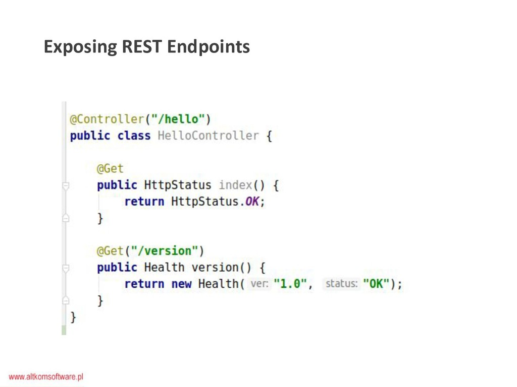 Exposing REST Endpoints