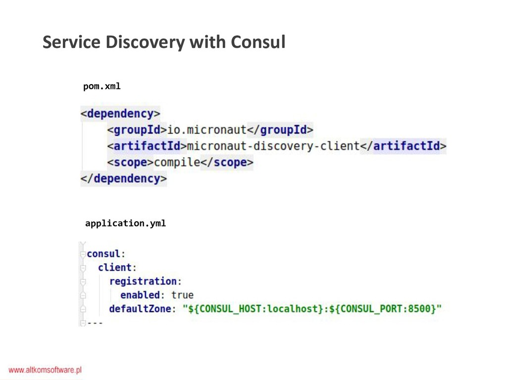 Service Discovery with Consul pom.xml applicati...