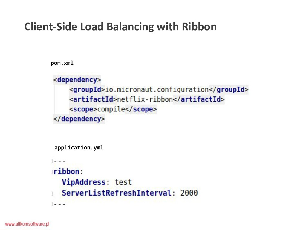 Client-Side Load Balancing with Ribbon pom.xml ...