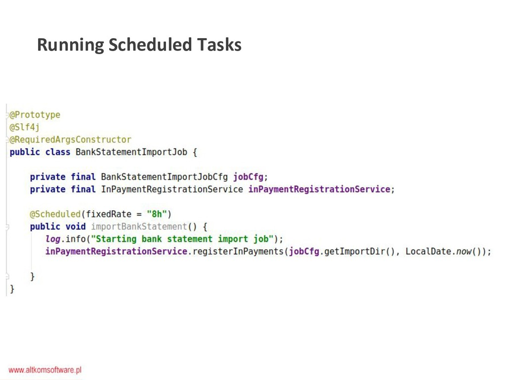 Running Scheduled Tasks
