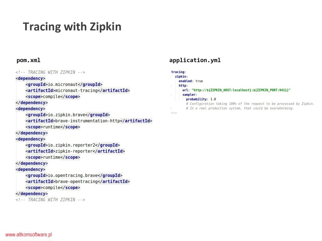 Tracing with Zipkin pom.xml application.yml