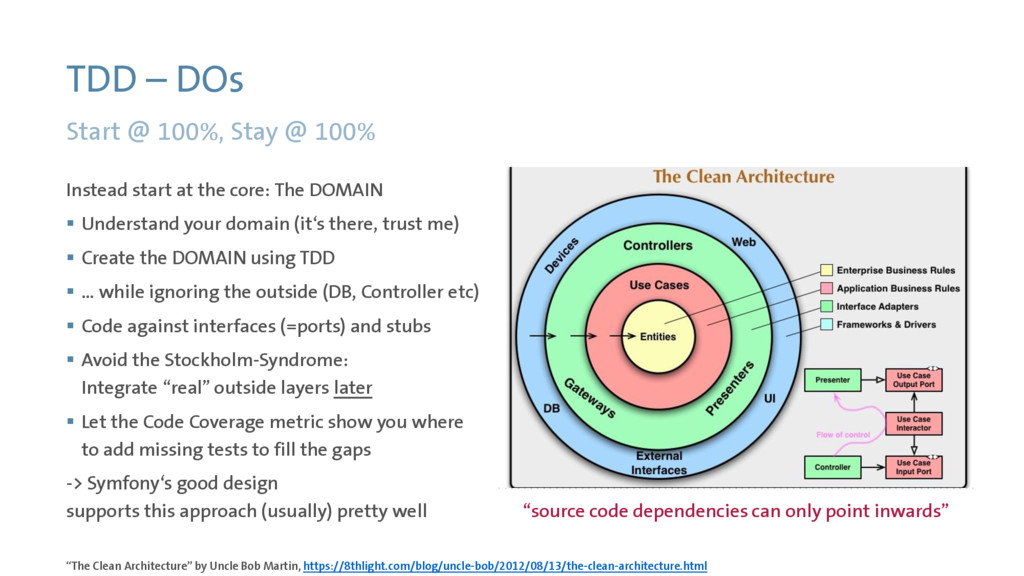"TDD – DOs Start @ 100%, Stay @ 100% ""The Clean ..."