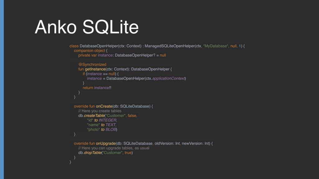 Anko SQLite class DatabaseOpenHelper(ctx: Conte...