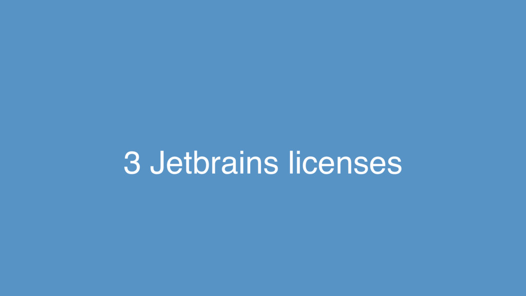 3 Jetbrains licenses