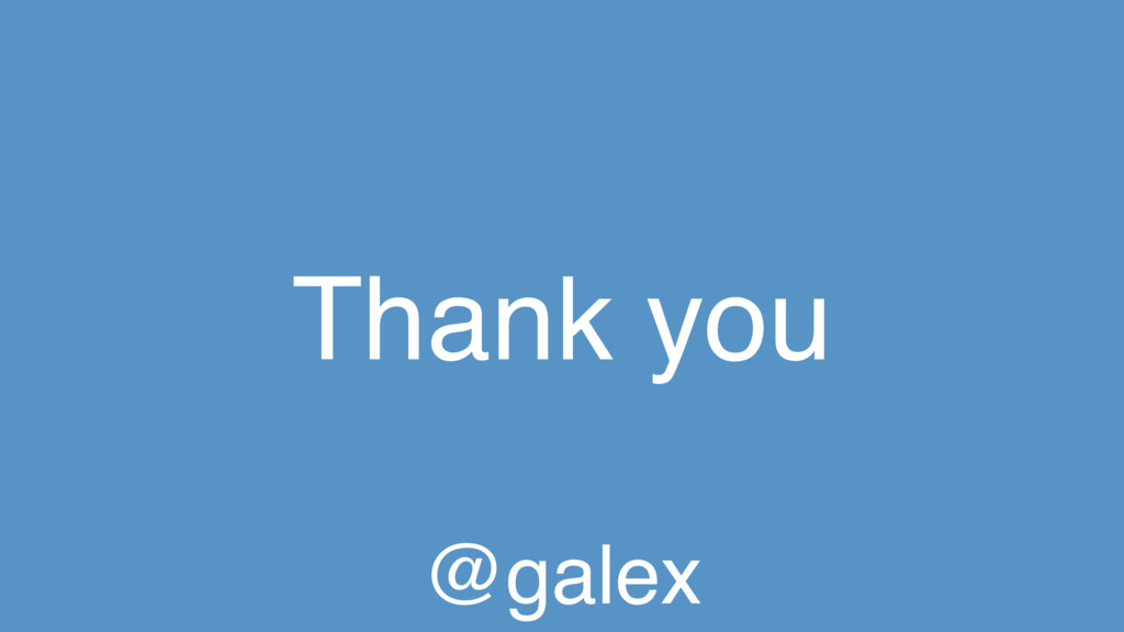 Thank you @galex