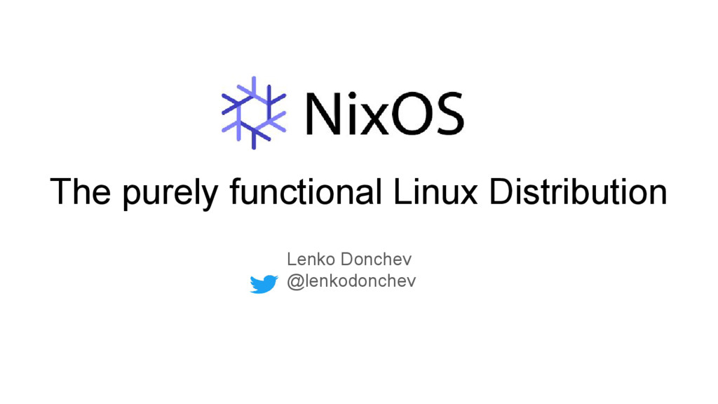 The purely functional Linux Distribution Lenko ...