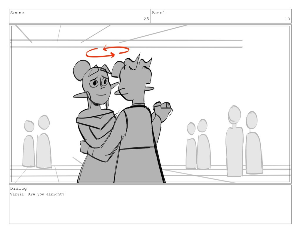 Scene 25 Panel 10 Dialog Virgil: Are you alrigh...
