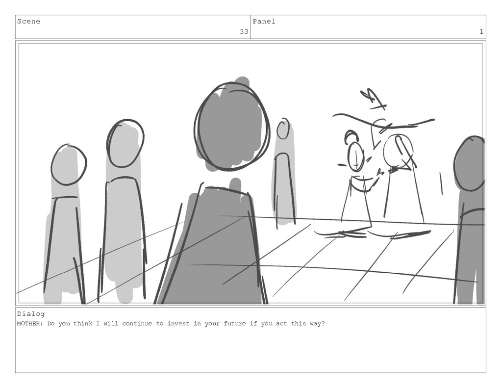 Scene 33 Panel 1 Dialog MOTHER: Do you think I ...