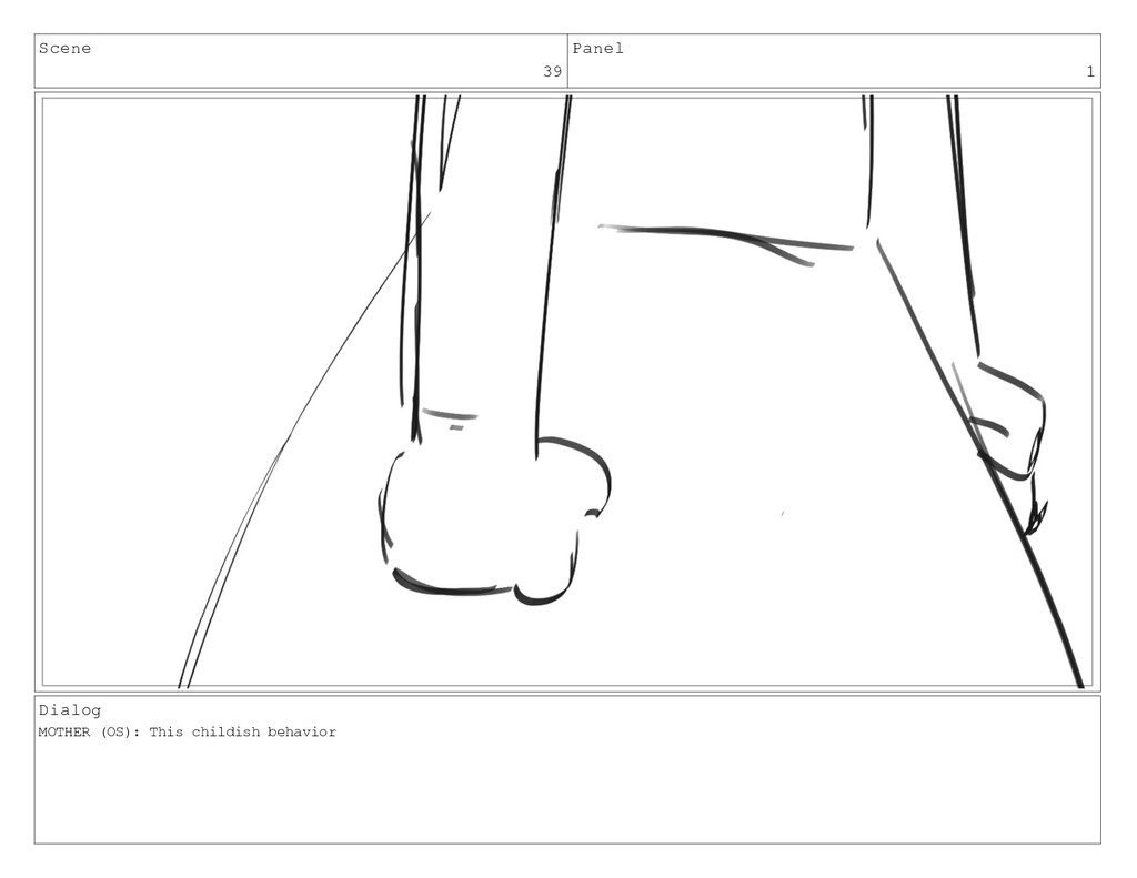 Scene 39 Panel 1 Dialog MOTHER (OS): This child...