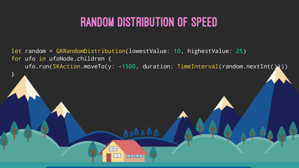RANDOM DISTRIBUTION OF SPEED let random = GKRan...
