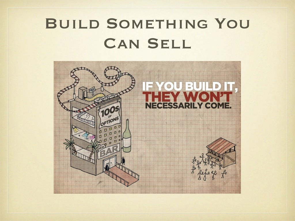 Build Something You Can Sell
