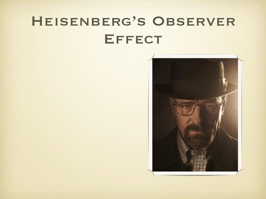 Heisenberg's Observer Effect