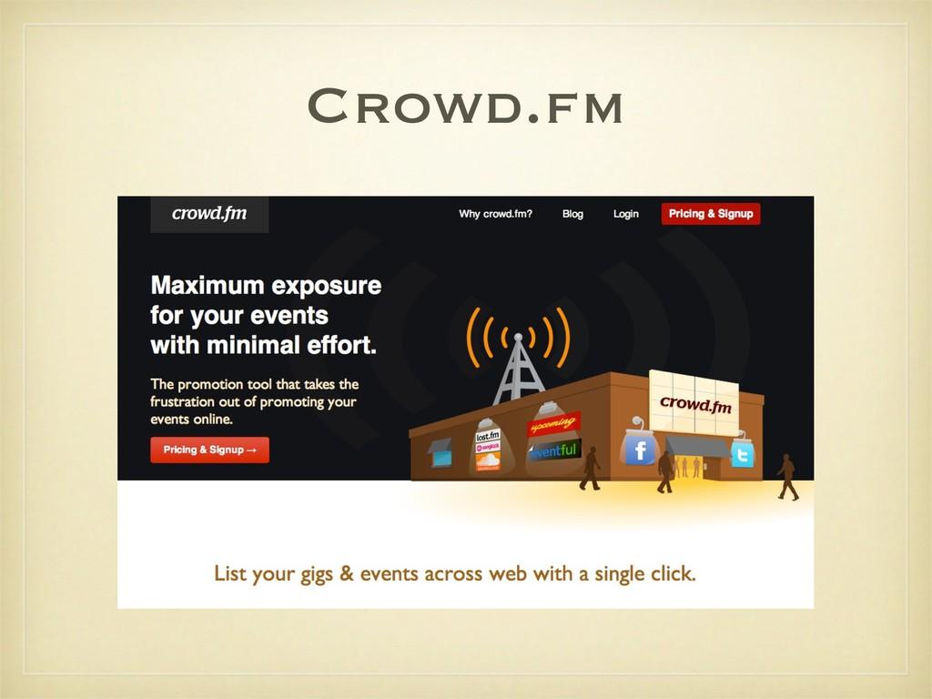Crowd.fm