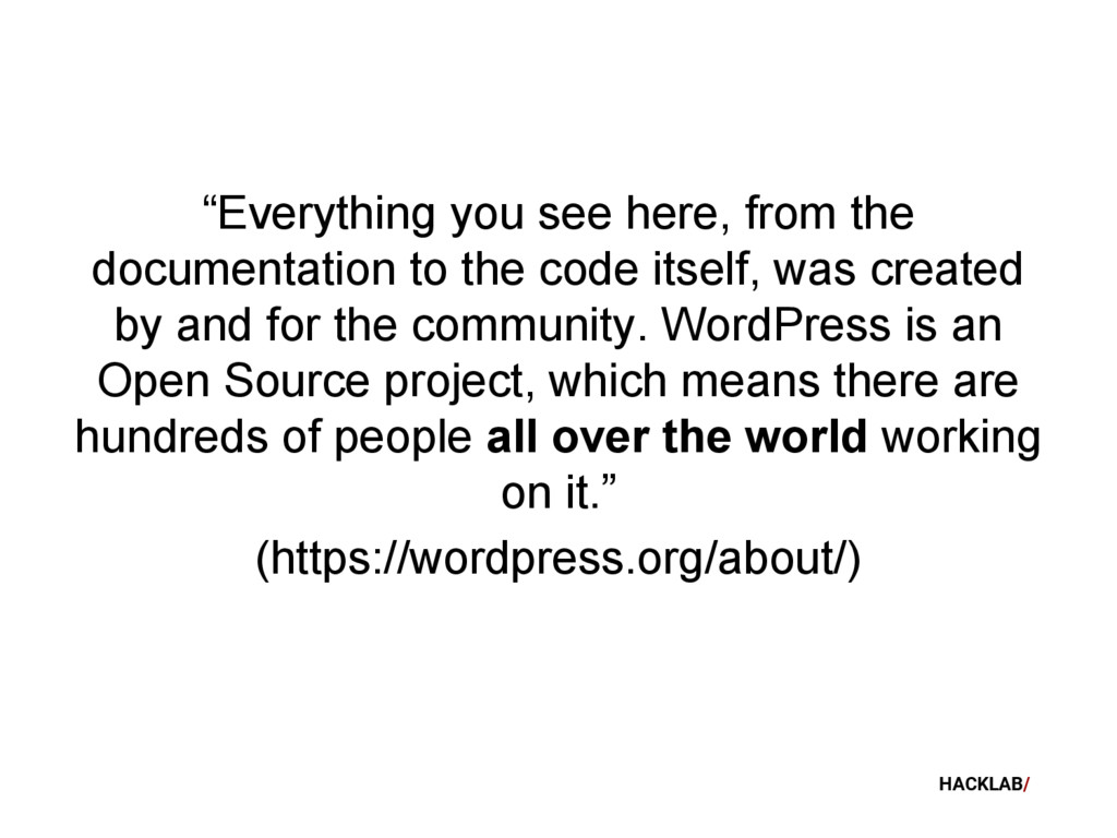 """HACKLAB/ """"Everything you see here, from the doc..."""