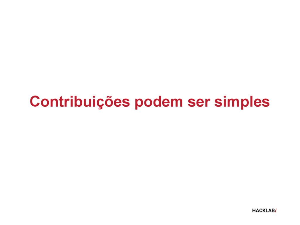 HACKLAB/ Contribuições podem ser simples