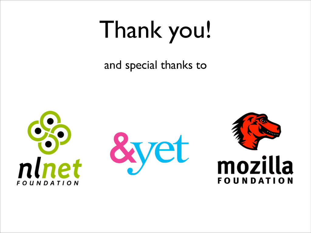Thank you! and special thanks to
