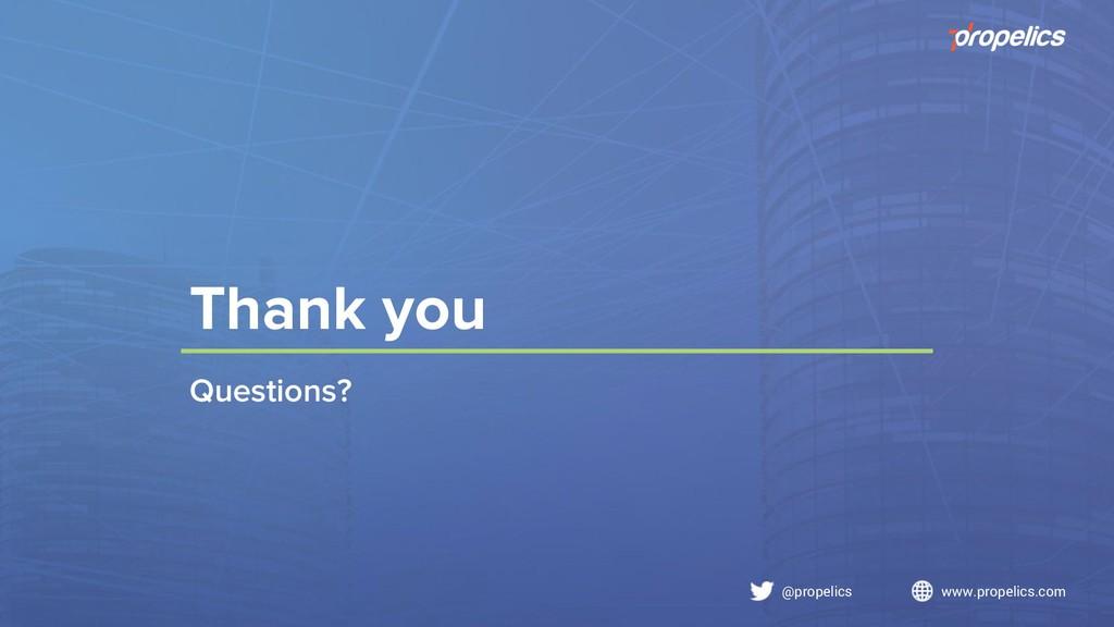 @propelics www.propelics.com Thank you Question...
