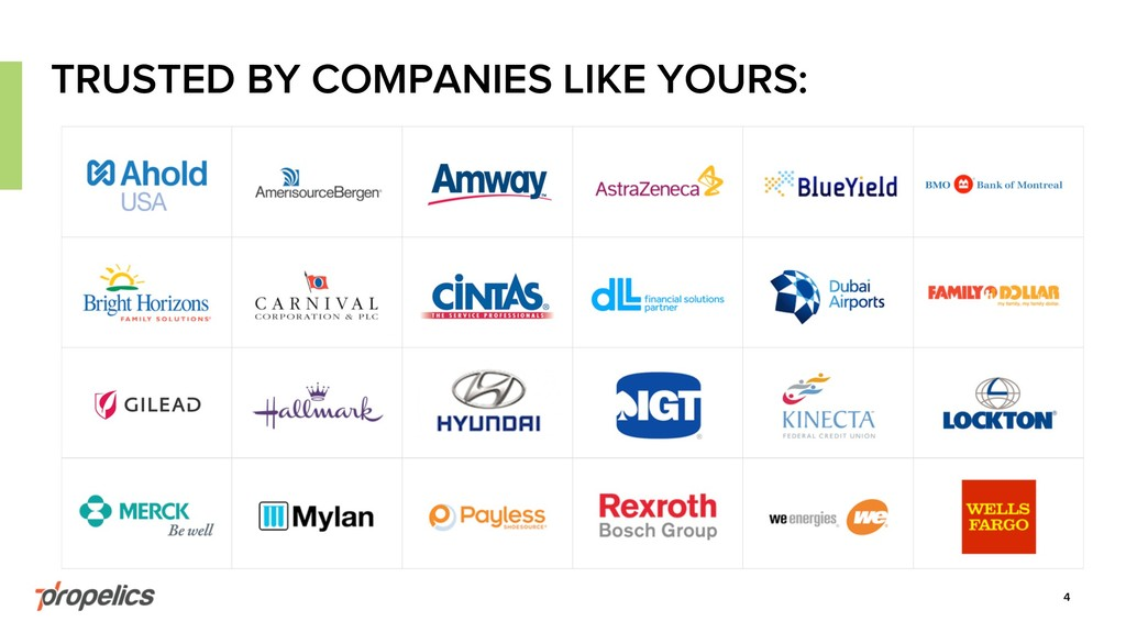 4 TRUSTED BY COMPANIES LIKE YOURS: