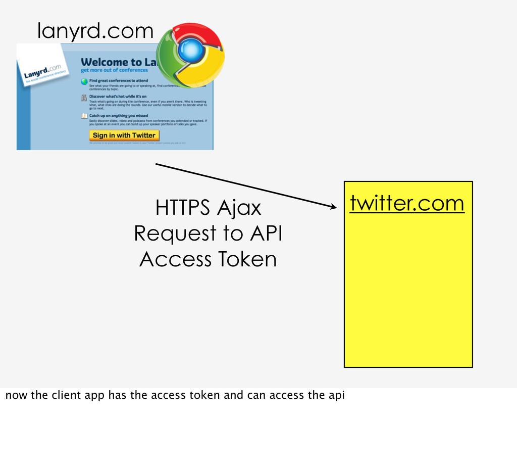 HTTPS Ajax Request to API Access Token twitter....