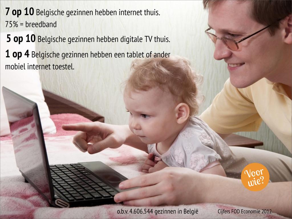 V r w ? 7 op 10 Belgische gezinnen hebben inter...