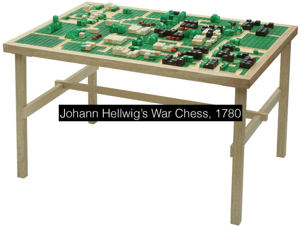 Johann Hellwig's War Chess, 1780