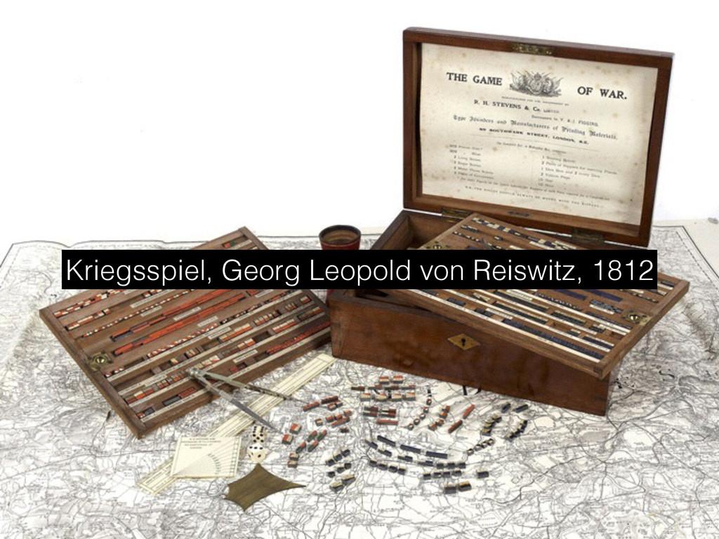 Kriegsspiel, Georg Leopold von Reiswitz, 1812