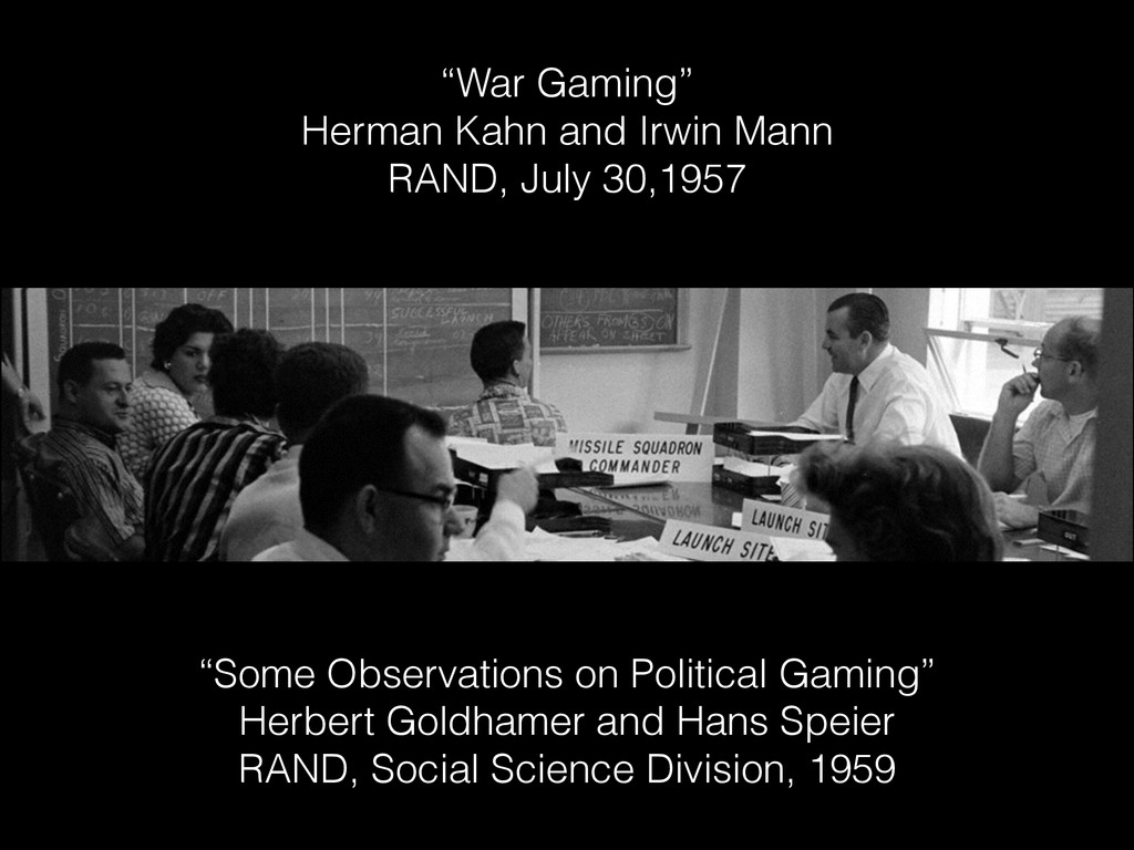 """""""Some Observations on Political Gaming"""" Herbert..."""