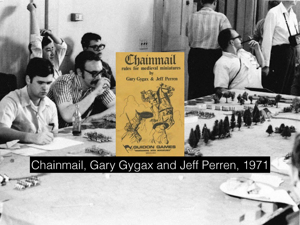 Chainmail, Gary Gygax and Jeff Perren, 1971