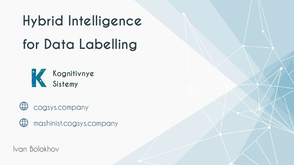 Hybrid Intelligence for Data Labelling Kognitiv...