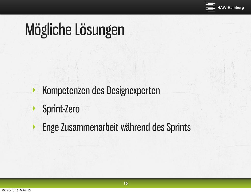 Mögliche Lösungen ‣ Kompetenzen des Designexper...