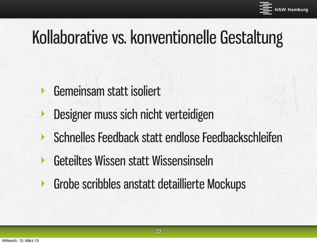 Kollaborative vs. konventionelle Gestaltung ‣ G...