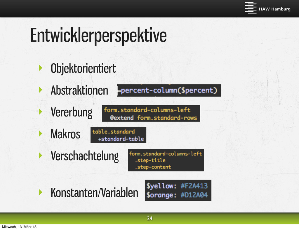 Entwicklerperspektive ‣ Objektorientiert ‣ Abst...