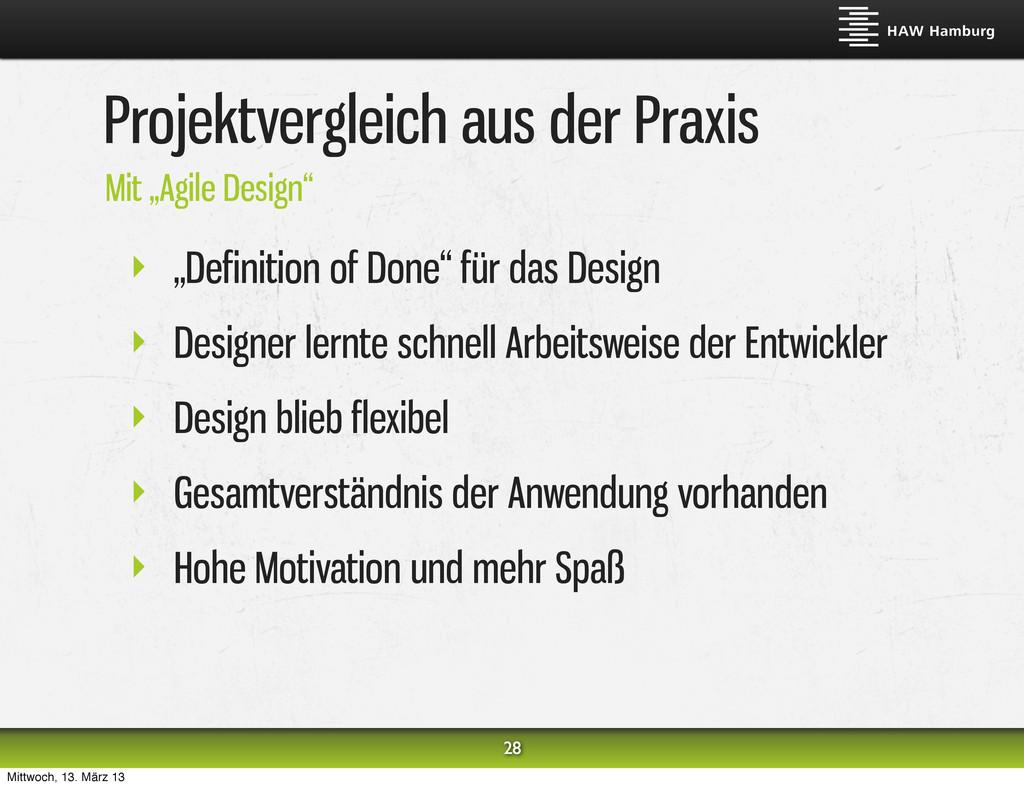 """Projektvergleich aus der Praxis ‣ """"Definition o..."""