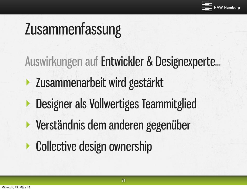 Zusammenfassung Auswirkungen auf Entwickler & D...