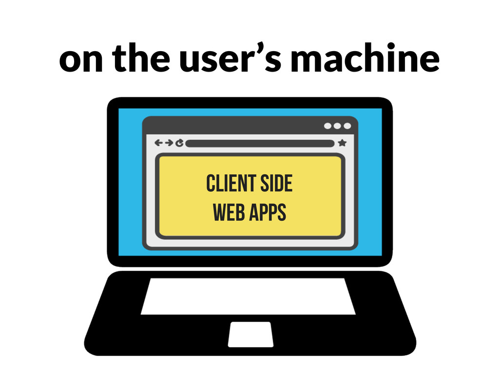 on the user's machine client side web apps