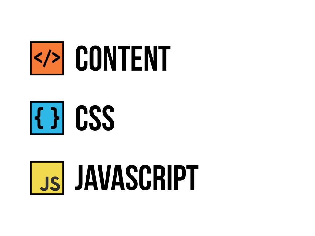 CSS JavaScript content