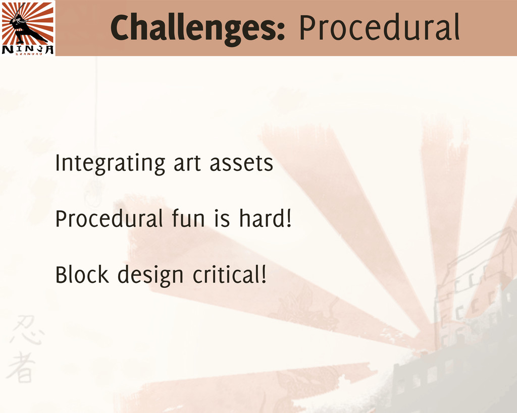 Challenges: Procedural Integrating art assets P...