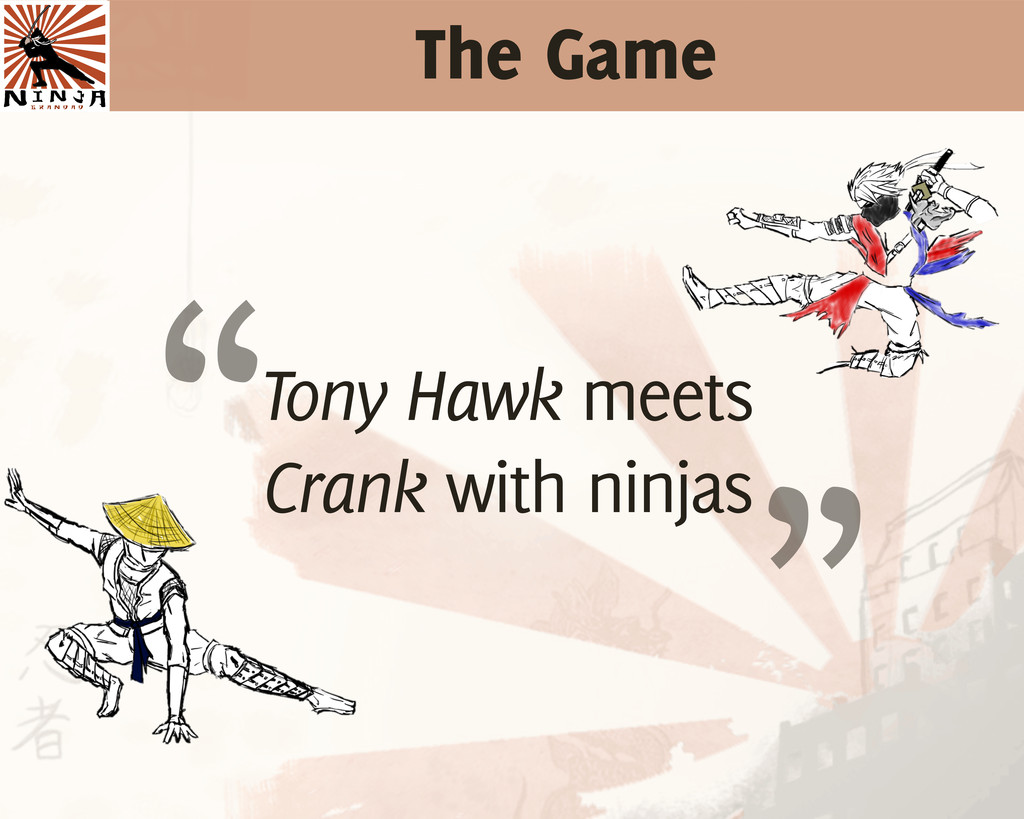 "The Game Tony Hawk meets Crank with ninjas "" """
