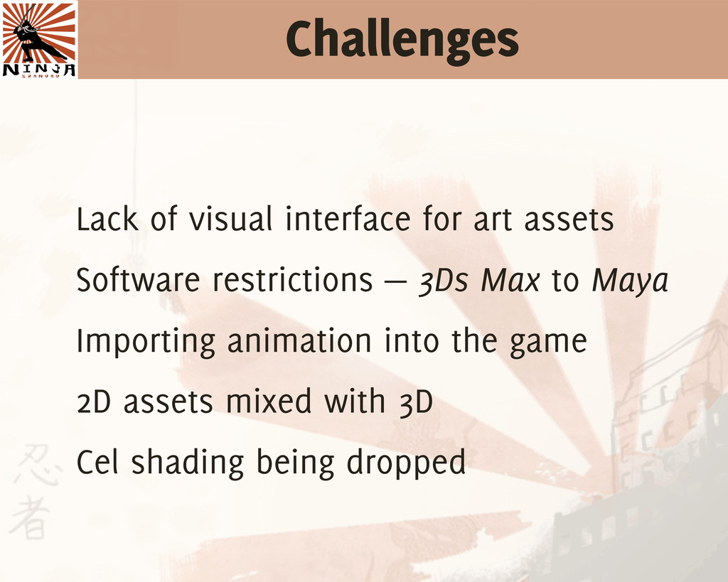 Challenges Lack of visual interface for art ass...