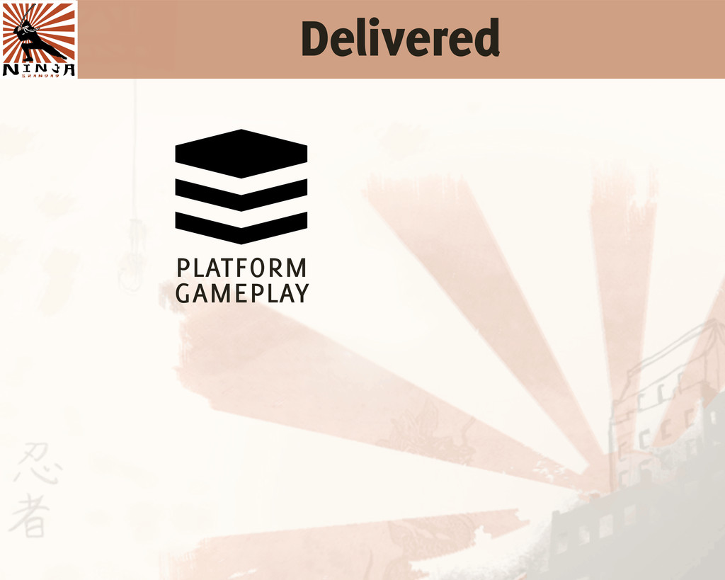 Delivered  platform gameplay