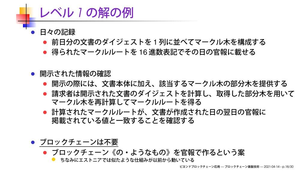 1 1 16 — — 2021-04-14 – p.18/30