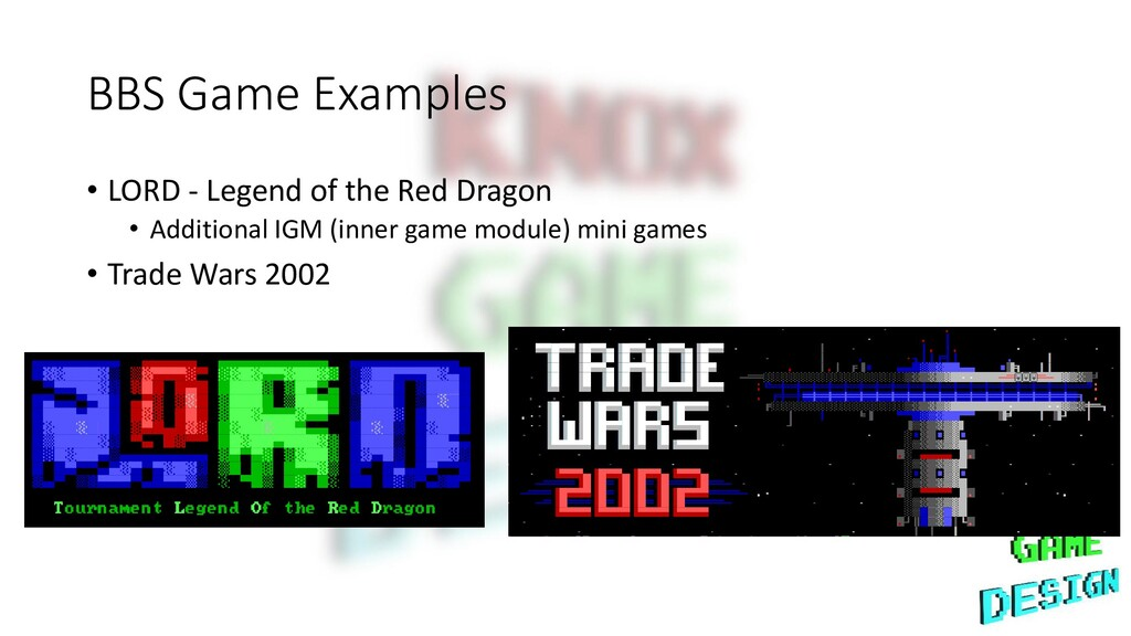 BBS Game Examples • LORD - Legend of the Red Dr...